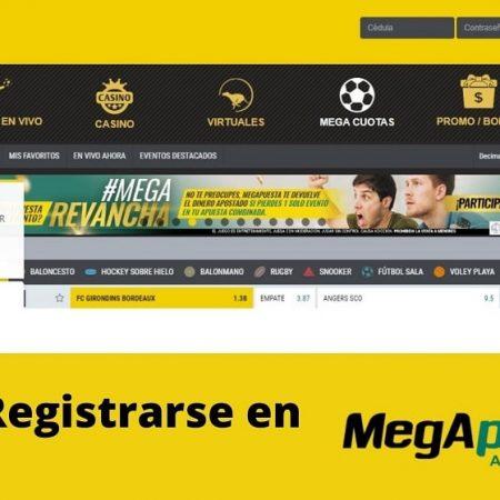 Cómo registrarse en Megapuesta