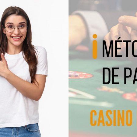 Métodos de pago casino en vivo